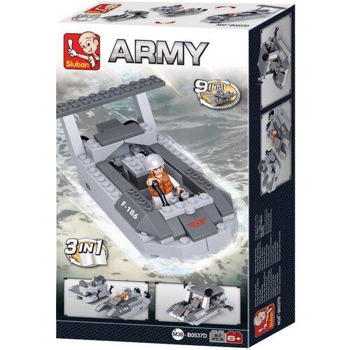 Купить Конструктор SLUBAN Сухопутные войска 2 M38-B0537D Десантный корабль 3в1, Конструкторы