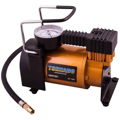 Автомобильный компрессор skyway Торнадо AC-580 черный/оранжевый