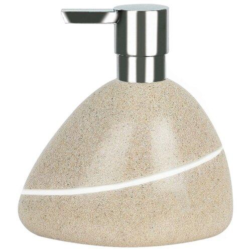 Фото - Дозатор для жидкого мыла Spirella Etna Stone, песочный дозатор для жидкого мыла spirella sydney серый 7х18 5 см