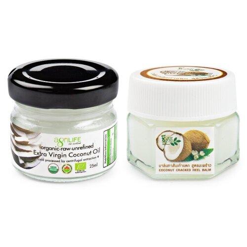 BIO WAY/AGRILIFE Набор бальзам для ног от сухости кокос и нерафинированное кокосовое масло 25 г/25 мл