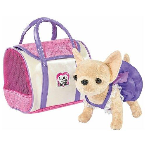 Мягкая игрушка Simba Chi chi love Чихуахуа в фиолетовом платье 20 см фото