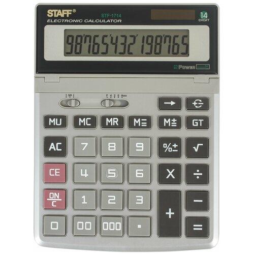 Калькулятор бухгалтерский STAFF STF-1714 металлик