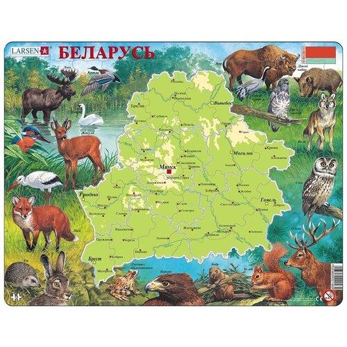Фото - Рамка-вкладыш Larsen Беларусь (K56), 72 дет. рамка вкладыш larsen азбука ls8 30 дет