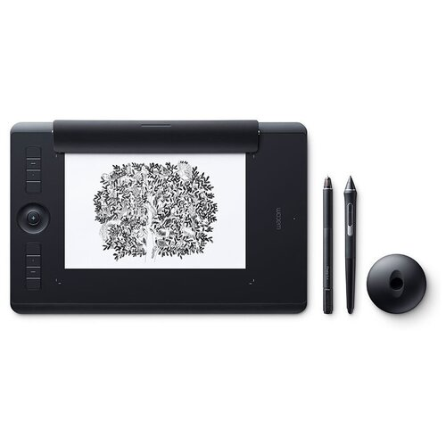 Фото - Графический планшет WACOM Intuos Pro Medium Paper Edition (PTH-660P) черный российская графический планшет wacom intuos pro medium pth 660 r