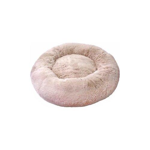 Лежак Зоогурман Пушистый сон 60х60х16 см бежевый