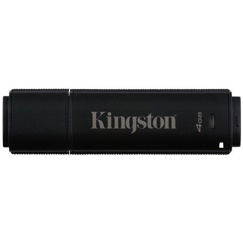 Фото - Флешка Kingston DataTraveler 4000 G2 4 GB, черный флешка kingston datatraveler 106 64 gb черный красный