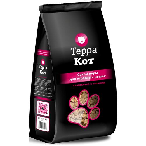 Фото - Сухой корм для кошек ТерраКот с говядиной, с овощами 10 кг сухой корм для кошек наша марка с говядиной с овощами 10 кг