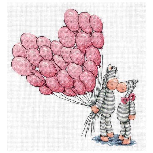 Купить Klart Набор для вышивания Воздушный поцелуй 27 x 29 см (8-281), Наборы для вышивания