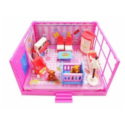Игровой набор ABtoys Счастливые друзья - Детская комната PT-00912 набор мебели счастливые друзья для кухни с аксесс abtoys