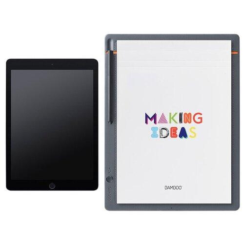 Интеллектуальный блокнот WACOM Bamboo Slate A4 (CDS-810S) серый