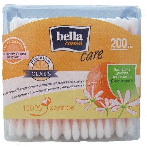 Ватные палочки Bella Cotton Care с Д-пантенолом и экстрактом из цветка апельсина, 200 шт.