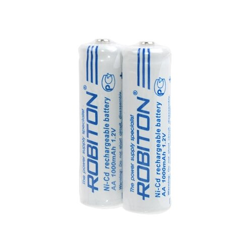 Фото - Аккумулятор Ni-Cd 1000 мА·ч ROBITON 1000NCAA SR2, 2 шт. аккумулятор li ion 550 ма·ч robiton 16340 кол во в упаковке 2 шт