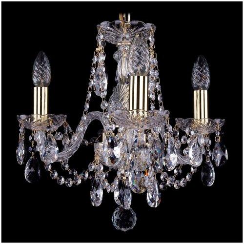 Фото - Bohemia Ivele Crystal 1406 1406/3/141/G люстра bohemia ivele crystal 1406 1406 8 141 g balls e14 320 вт