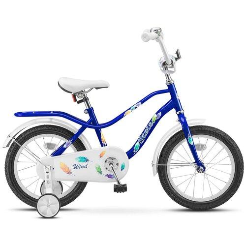 Детский велосипед STELS Wind 16 Z010 (2018) синий 11 (требует финальной сборки) детский велосипед stels jet 14 z010 2018 белый синий 8 5 требует финальной сборки