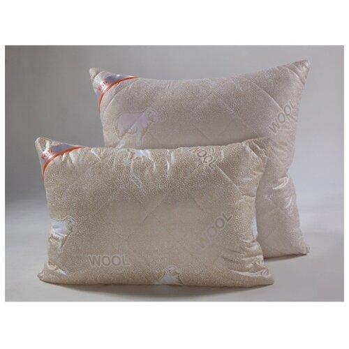 Подушка стеганная VESTA текстиль 70*70 см, шерсть мериноса, ткань глосс-сатин, полиэстер 100%