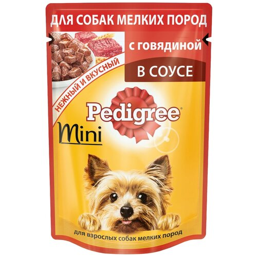 Фото - Влажный корм для собак Pedigree говядина 85 г (для мелких пород) сухой корм для собак мелких пород pedigree говядина 2 2 кг