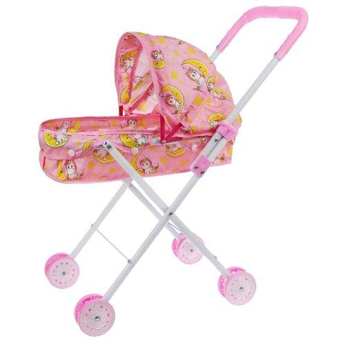 Купить Коляска-люлька Yako Единорог M0609-4 розовый, Коляски для кукол