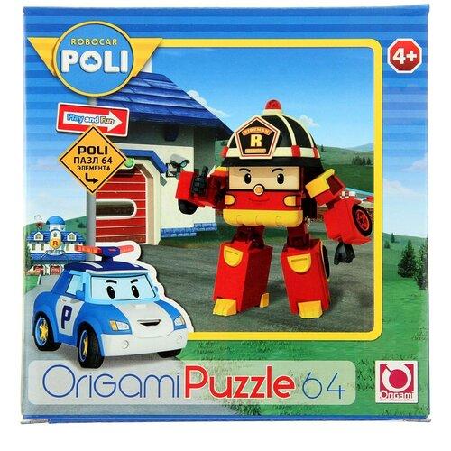 Пазл Origami Robocar Poli Рой (05886), 64 дет. трансформер poli рой рой 83170