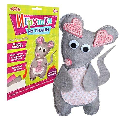 Купить 2391196 Набор для создания игрушки из фетра 'Мышонок' + бисер, игла, мулине, Арт Узор, Изготовление кукол и игрушек