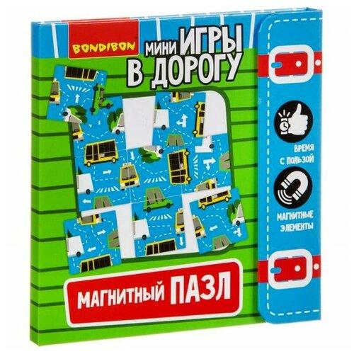 Пазл BONDIBON магнитный Игры в дорогу Дорожное движение (ВВ3561)