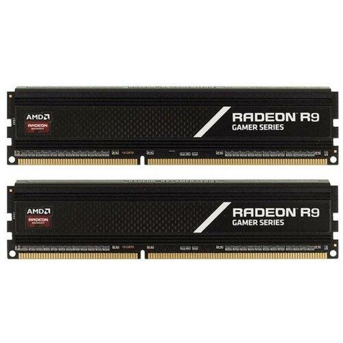 Оперативная память AMD Radeon R9 Gaming Series 8GB (4GBx2) DDR4 3200MHz DIMM 288-pin CL16 R9S48G3206U1K