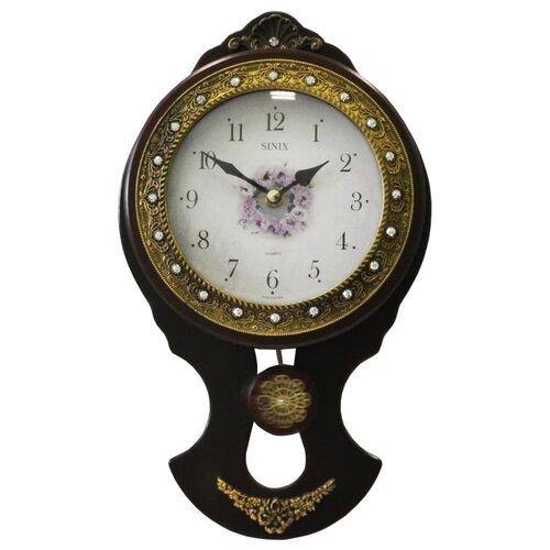 Часы настенные кварцевые Sinix 2109 черный/золотистый