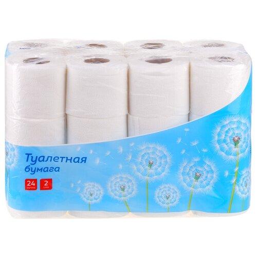 Купить Туалетная бумага OfficeClean белая двухслойная 24 рул.