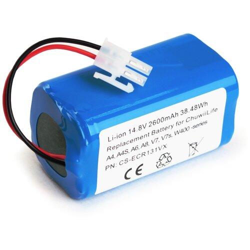 Аккумулятор для робота-пылесоса Chuwi iLife A4 - A8, V7, W400 -series, Polaris PVC, Kitfort, iBoto, Liectroux X5S, 14.8V 2.6Ah 38.5Wh (Li-Ion) PN: CS-ECR131VX