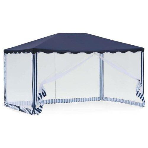Шатер Green Glade 1038, 3 х 4 х 2.5 м синий / белый шатер green glade 1032 3 х 3 х 2 5 м синий белый