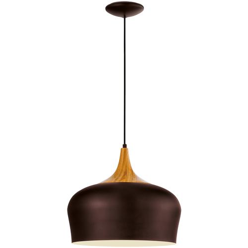 Светильник Eglo 95385 Obregon, E27, 60 Вт, кол-во ламп: 1 шт., цвет арматуры: коричневый, цвет плафона: бежевый светильник eglo obregon 95384 e27 60 вт