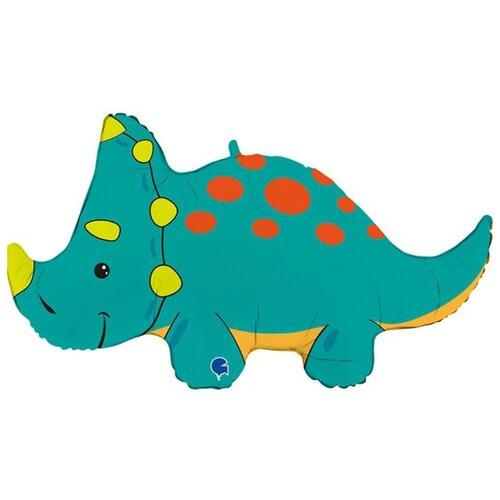 Воздушный шар Динозавр Трицератопс, 91 см