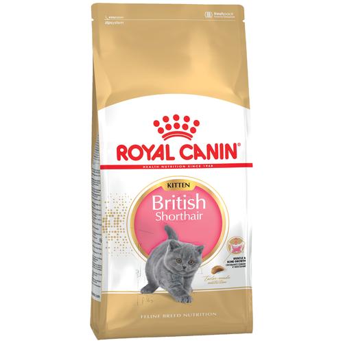 Сухой корм для котят Royal Canin породы Британская короткошерстная 2 шт. х 2 кг royal canin royal canin british shorthair 34 для породы британская короткошерстная старше 12 мес 4кг