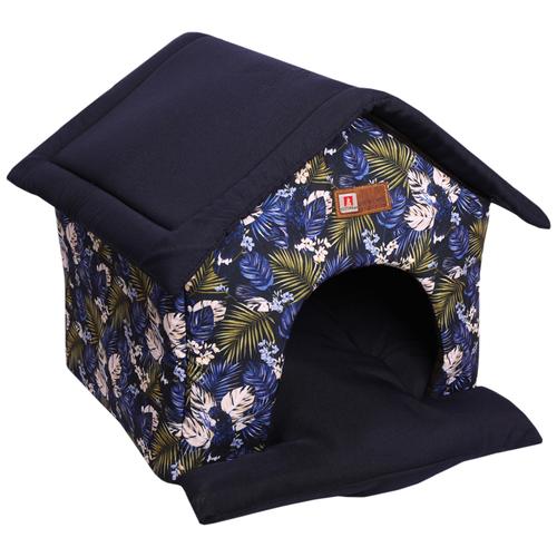 Домик для собак и кошек Зоогурман Ампир 45х40х45 см синий