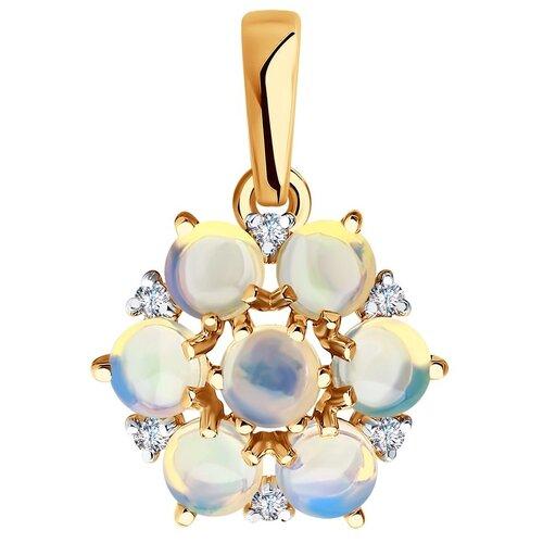 SOKOLOV Подвеска из золота с бриллиантами и опалами 6034097