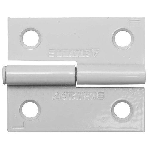 Врезная петля STAYER MASTER 37613-50 L 50x43x1.8 мм белый