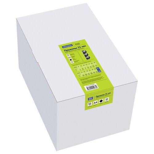 Фото - Пружина OfficeSpace пластиковые 51 мм черный 50 шт. пружина officespace пластиковые 22 мм белый 50 шт