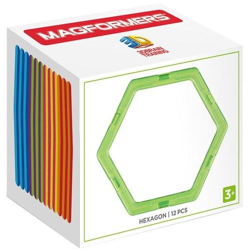 Купить Дополнительные детали Magformers 713015 Шестиугольники в коробке 12, Конструкторы