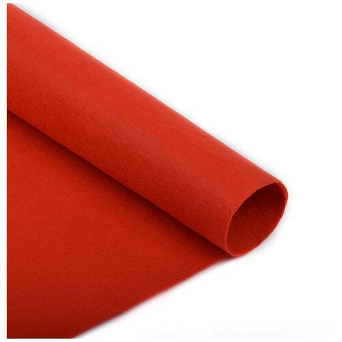 Фетр в рулоне полужесткий IDEAL 1мм 100см FLT-HS2 уп.5м цв.004 красный