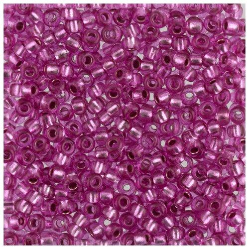 Купить Бисер круглый Gamma 6, 10/0, 2, 3 мм, 50 г, 1-й сорт, F377, лиловый, Фурнитура для украшений