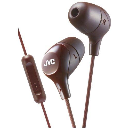 Наушники JVC HA-FX38M, brown наушники jvc ha fx38m b e черный