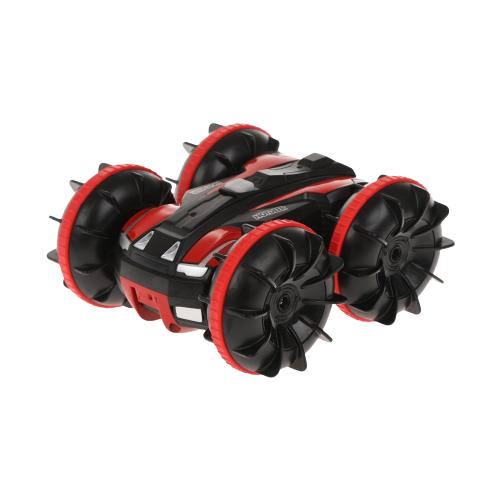 Купить Машинка-перевертыш Пламенный мотор Гидроход-перевертыш (870499) 14.5 см черный/красный, Радиоуправляемые игрушки