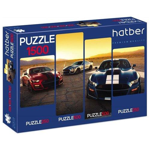 Набор пазлов Hatber Premium 4 картинки в 1 коробке АвтоЛюкс (Ч1500ПЗ2_22540)