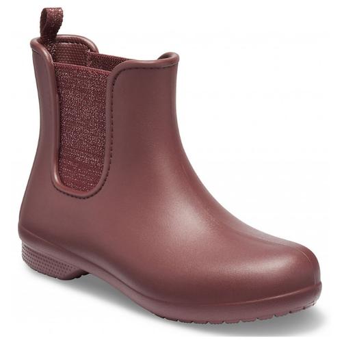 Резиновые полусапоги Crocs Freesail Metallic Chelsea Boot, размер 37(W7), metallic burgundy