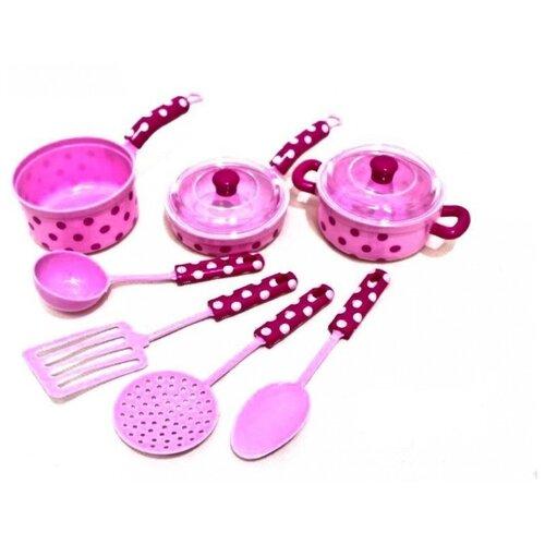 Набор посуды Shantou Gepai Д79265 розовый недорого