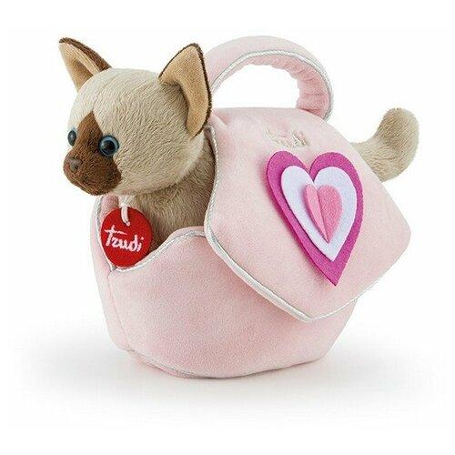 Купить Мягкая игрушка Trudi Сиамский котёнок в сумочке 28 см, Мягкие игрушки