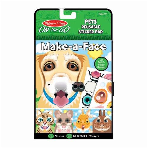 Купить Melissa&Doug Набор стикеров Создай мордочку. Домашние животные , Melissa & Doug, Наклейки