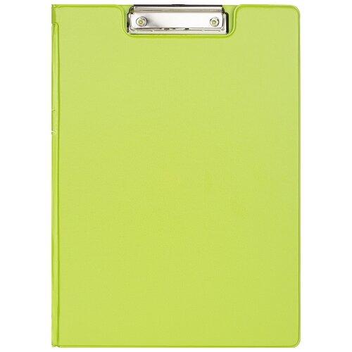 Купить Папка планшет Attache с зажимом и крышкой, Bright colours, A4, лайм (1209649), Файлы и папки