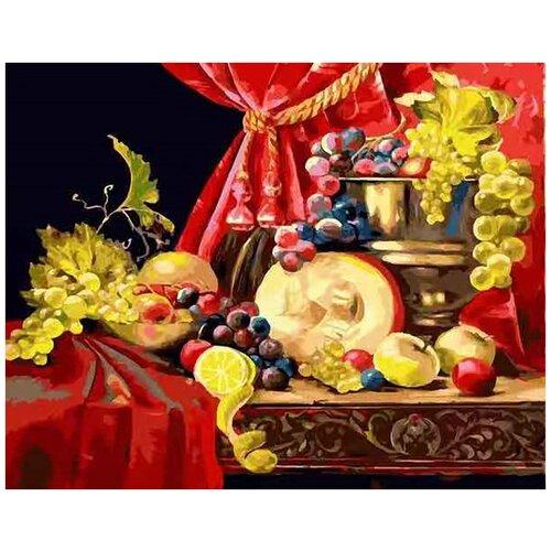 картина по номерам color kit натюрморт с подсолнухами 30x40 см Картина по номерам Color Kit на подрамнике Натюрморт с тыквой 40х50 CG2026