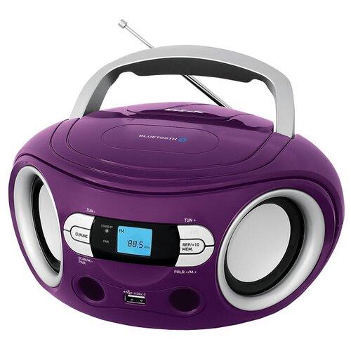 Магнитола BBK BS15BT фиолетовый/серебристый