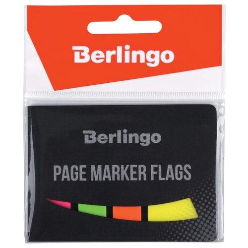 Купить Berlingo Флажки-закладки 45х25 мм, 20 листов + 45х12, 20 листов х 3 неоновых цвета (LSz_45255) ассорти, Бумага для заметок